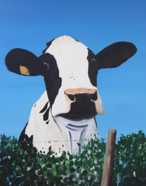 Cow on a Ditch
